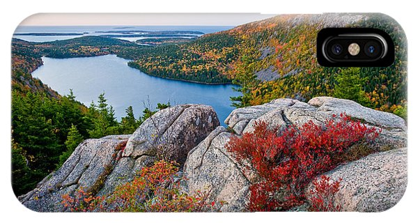 Weathered iPhone Case - Jordan Pond Sunrise  by Susan Cole Kelly