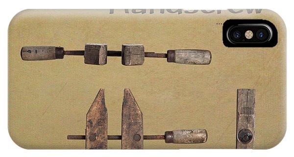 Woodworking iPhone Case - Jorgensen Handscrew by Tom Mc Nemar