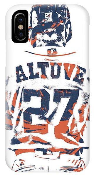 Iphone 4 iPhone Case - Jose Altuve Houston Astros Pixel Art 10 by Joe Hamilton