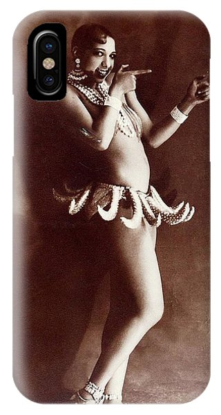 Josephine Baker Lucien Walery   Banana Skirt From The Folies Bergere Production Un Vent De Folie IPhone Case