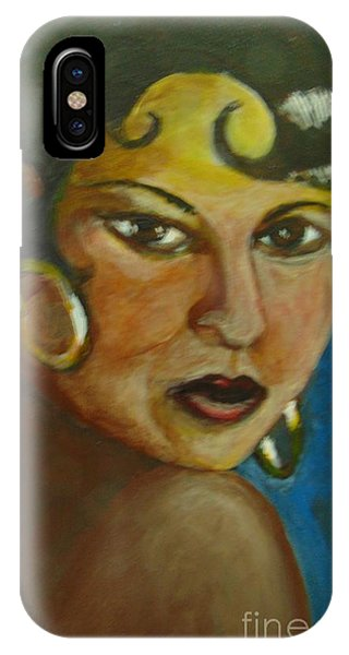 IPhone Case featuring the painting Josephine Baker by Saundra Johnson