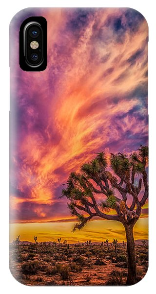 Joshua Tree In The Glowing Swirls IPhone Case