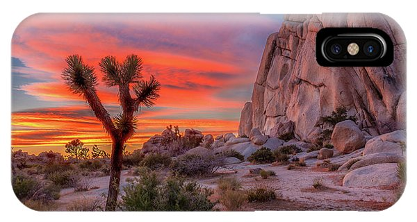 Landscapes iPhone X / XS Case - Joshua Tree Sunset by Peter Tellone