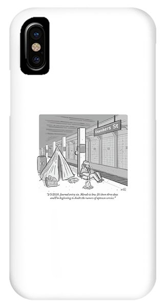 Journal Entry Six Morale Is Low IPhone Case