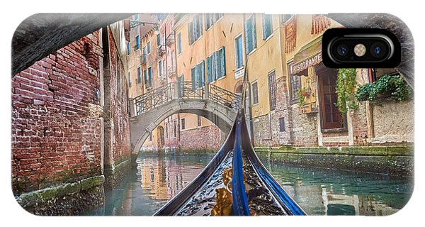 Journey Through Dreams - A Ride On The Canals Of Venice, Italy IPhone Case