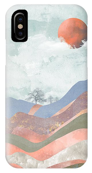 Abstract Landscape iPhone Case - Journey To The Clouds by Katherine Smit