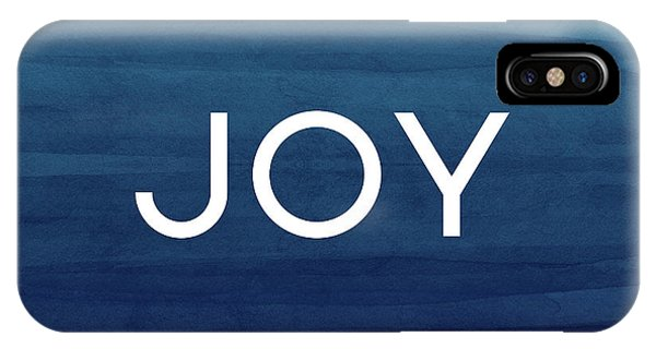 Winter iPhone Case - Joy Blue- Art By Linda Woods by Linda Woods