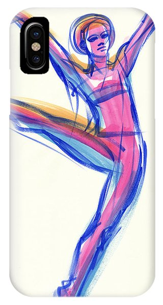 IPhone Case featuring the painting Joy by Judith Kunzle