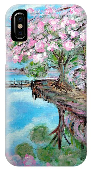 Joy Of Spring. Acrylic Painting For Sale IPhone Case