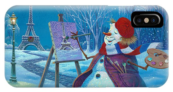 French Landscape iPhone Case - Joyeux Noel by Michael Humphries