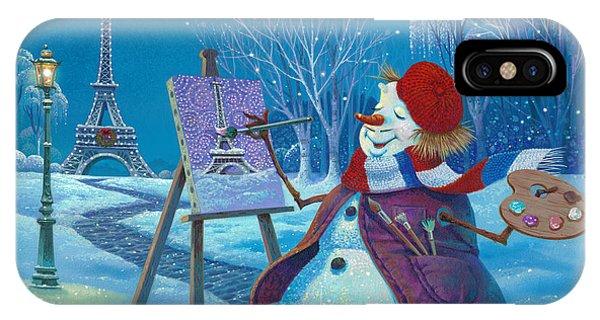Eiffel Tower iPhone Case - Joyeux Noel by Michael Humphries