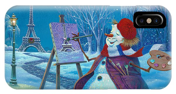 French Painter iPhone Case - Joyeux Noel by Michael Humphries