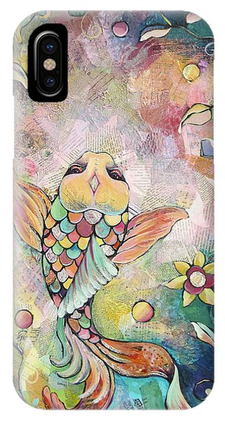Koi iPhone Case - Joyful Koi I by Shadia Derbyshire