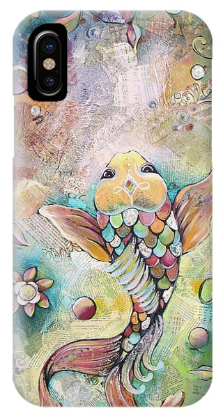 Koi iPhone Case - Joyful Koi II by Shadia Derbyshire