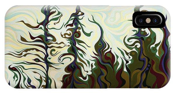 Joyful Pines, Whispering Lines IPhone Case