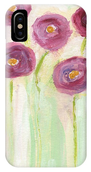 Poppies iPhone Case - Joyful Poppies- Abstract Floral Art by Linda Woods