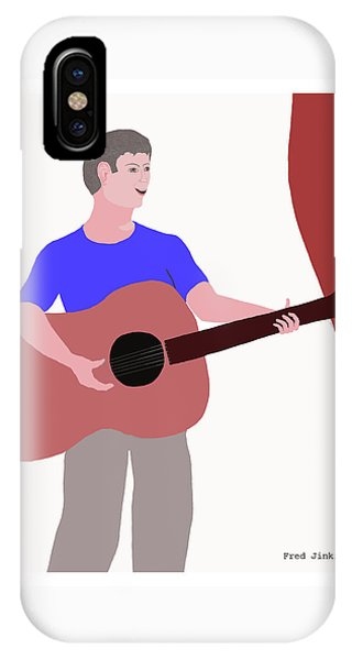 Joyful Young Musician IPhone Case