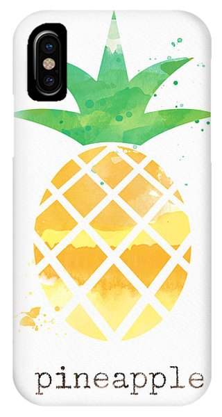 Cute iPhone Case - Juicy Pineapple by Linda Woods