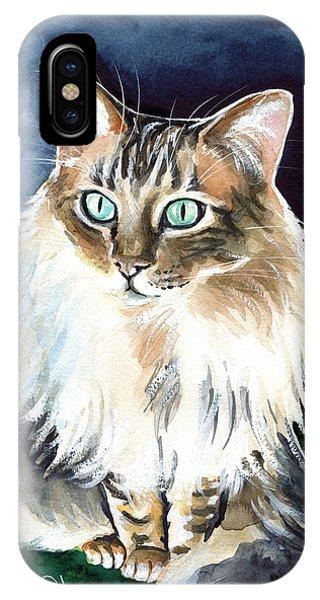 Juju - Cashmere Bengal Cat Painting IPhone Case