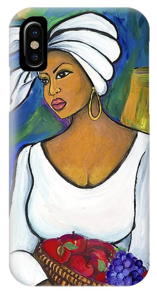 African American iPhone Case - Juju by Diane Britton Dunham