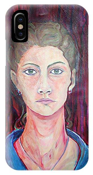 Julie Self Portrait IPhone Case
