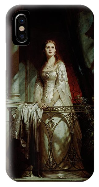 1877 iPhone Case - Juliet, 1877 by Thomas-Francis Dicksee