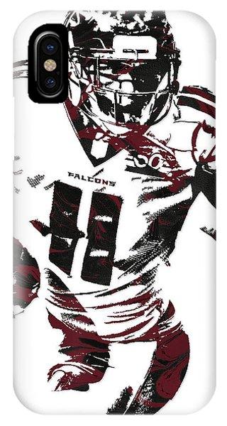 Ball iPhone Case - Julio Jones Atlanta Falcons Pixel Art 4 by Joe Hamilton