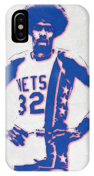Tickets iPhone Case - Julius Erving New York Nets Pixel Art by Joe Hamilton