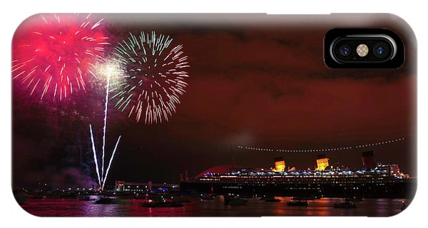 July 4th Fireworks - Long Beach California IPhone Case