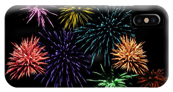 July Fireworks Montage IPhone Case