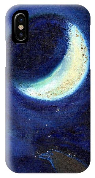 Half Moon iPhone Case - July Moon by Nancy Moniz