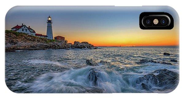 Navigation iPhone Case - July Sunrise At Portland Head by Rick Berk