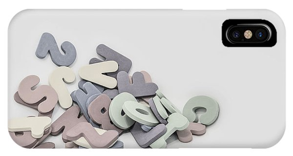Indoors iPhone Case - Jumbled Letters by Scott Norris