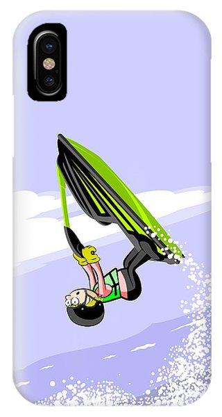 Jet Ski iPhone Case - Jumping High On A Green Jet Ski by Daniel Ghioldi