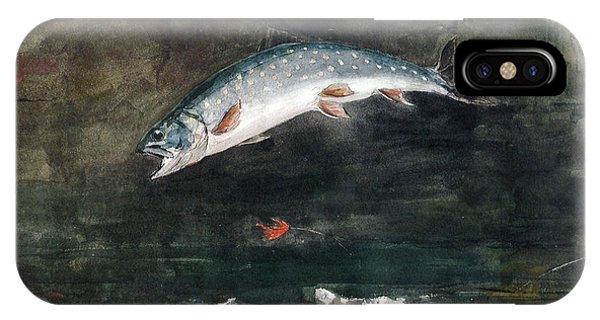 Homer iPhone Case - Jumping Trout by Winslow Homer