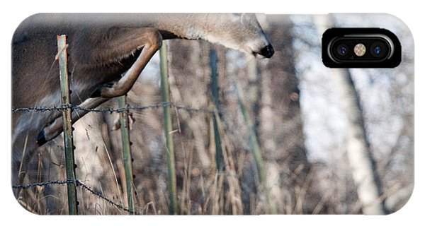 Jumping White-tail Buck IPhone Case