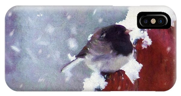 Junco In The Snow, Square IPhone Case