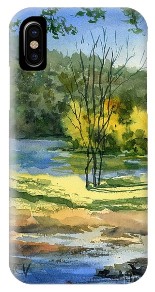 Junction Of White And Spring Rivers IPhone Case