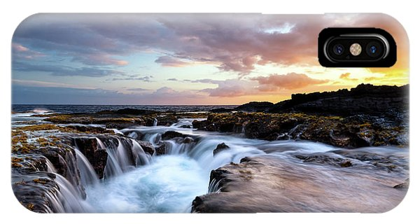 Drain iPhone Case - June Blow Hole Sunset by Christopher Johnson