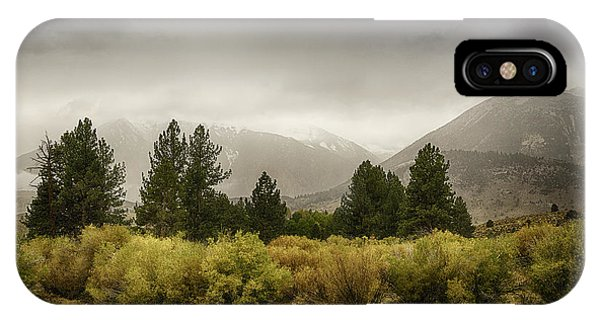 June Lakes Loop In The Autumn Rain IPhone Case