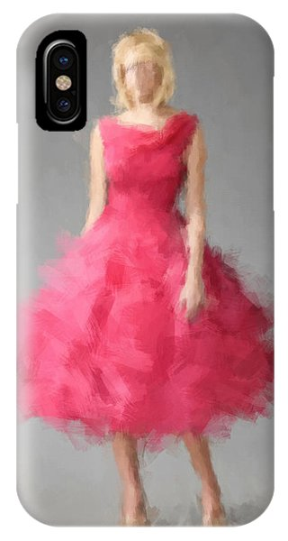 IPhone Case featuring the digital art June by Nancy Levan