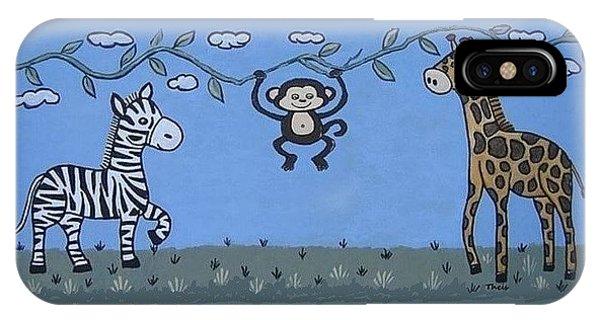 Jungle Animals Happy Birthday IPhone Case