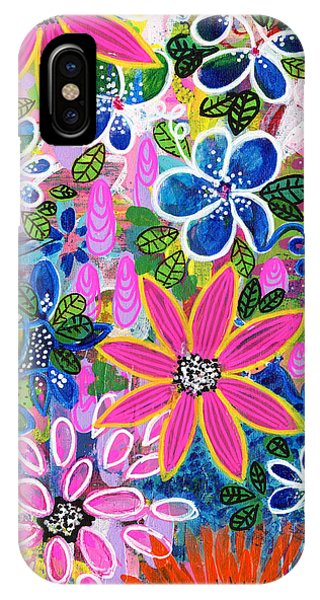 Colorful Flowers iPhone Case - Jungle Love by Robin Mead