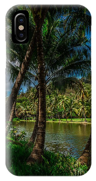 Jungle River Palms Kauai IPhone Case