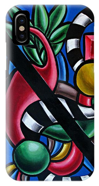 Original Colorful Abstract Art Painting - Multicolored Chromatic Artwork IPhone Case