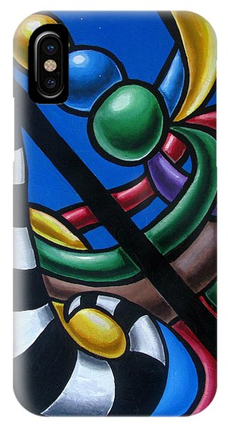 Original Colorful Abstract Art Painting - Multicolored Chromatic Artwork Painting IPhone Case