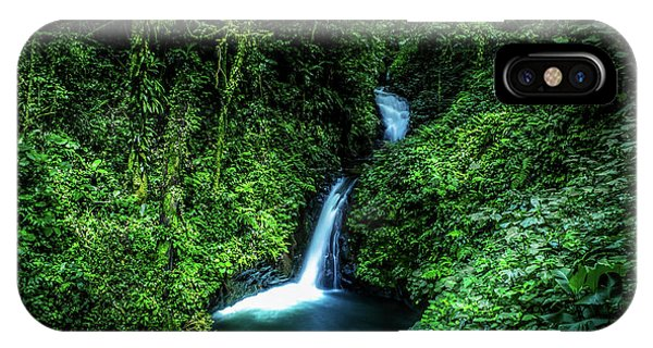 Waterfall iPhone Case - Jungle Waterfall by Nicklas Gustafsson