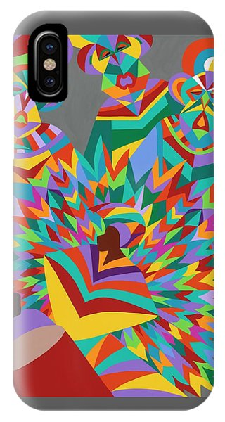 iPhone X Case - Junkanoo by Synthia SAINT JAMES