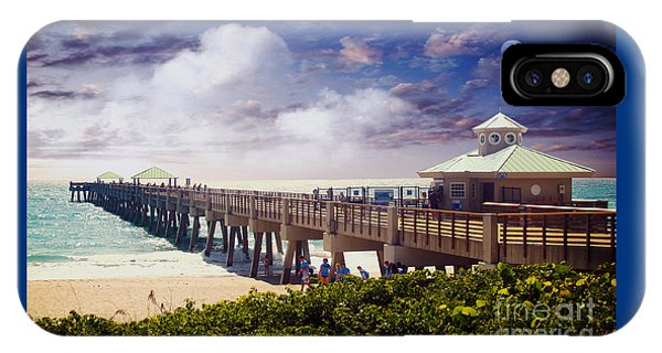 Juno Beach Pier Treasure Coast Florida Seascape Dawn C5a IPhone Case