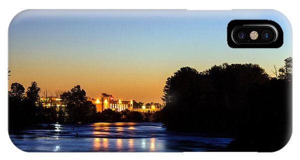 Jupiter And Venus Over The Willamette River In Eugene Oregon IPhone Case